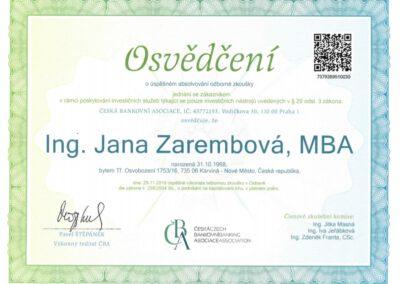Jana.Zarembova-certifikace-Prodej.investic